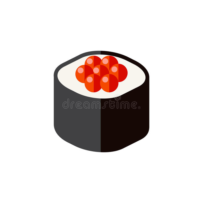 Icône plate d'isolement de fruits de mer L'élément japonais de vecteur de nourriture peut être employé pour le Japonais, nourritu illustration de vecteur