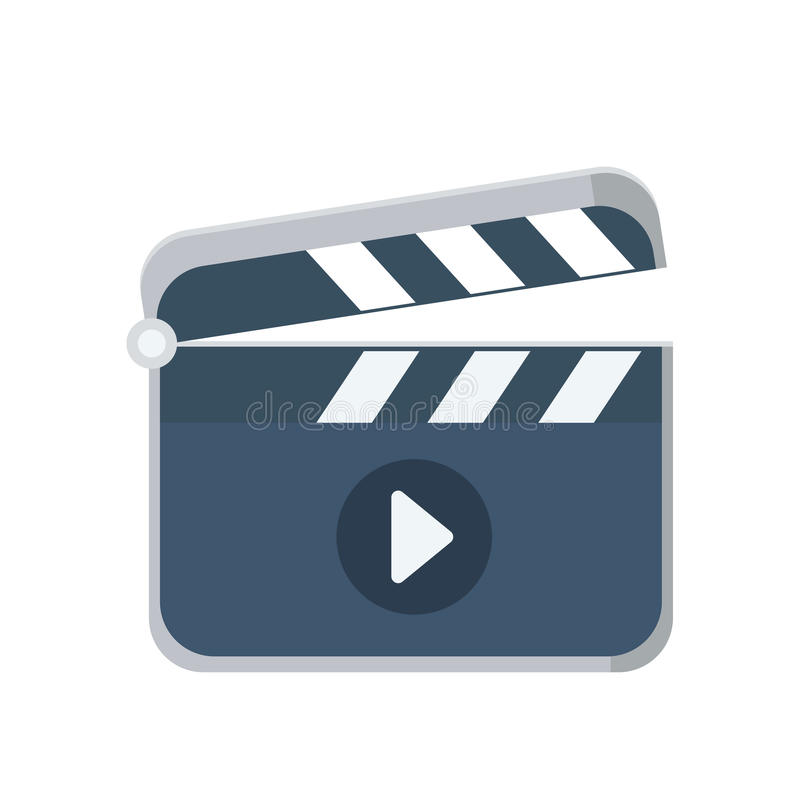 Icône plate de bardeau, logo de vecteur illustration libre de droits