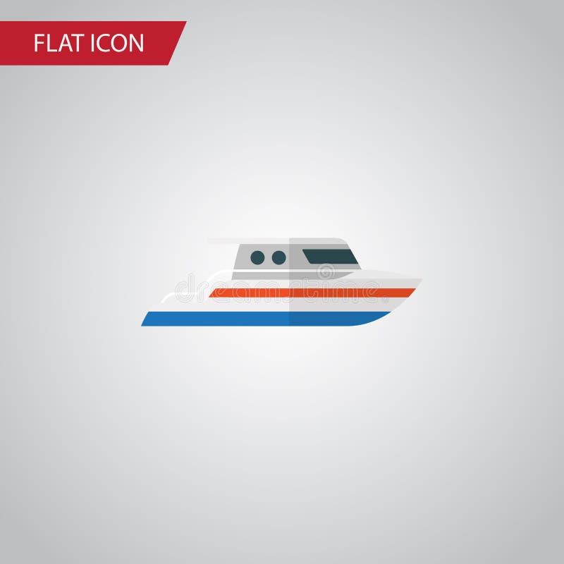 Icône plate de bateau L'élément de vecteur de bateau peut être employé pour le bateau, bateau, concept de construction de yacht illustration stock