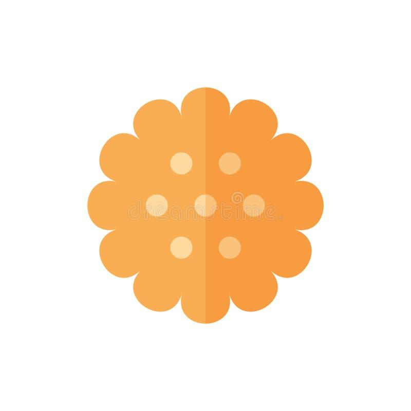 Icône plate de biscuit illustration libre de droits