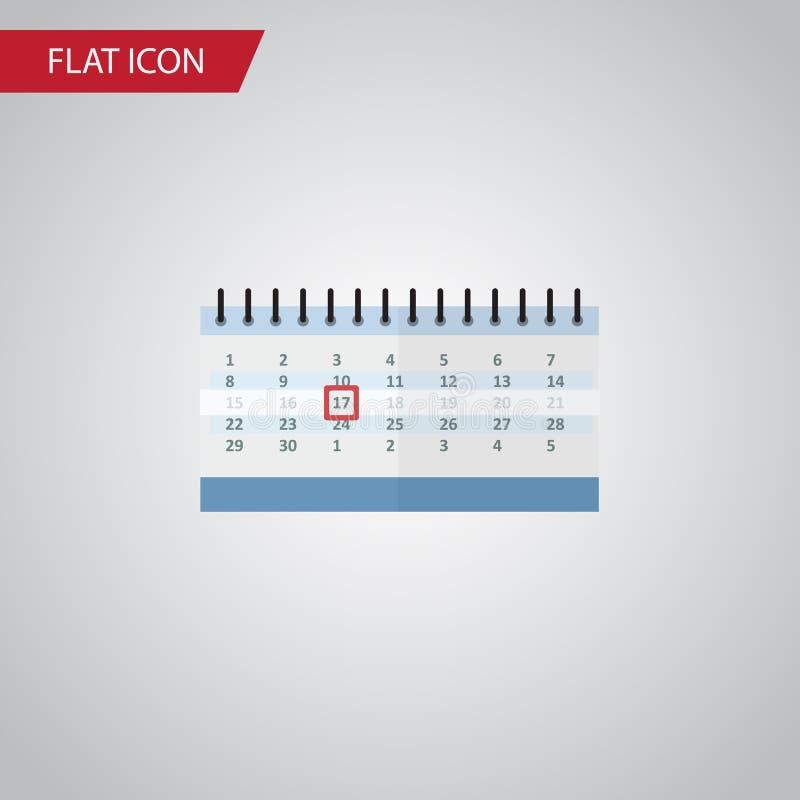 Icône plate de calendrier L'élément de vecteur de bloc de date peut être employé pour le calendrier, date, concept de constructio illustration de vecteur