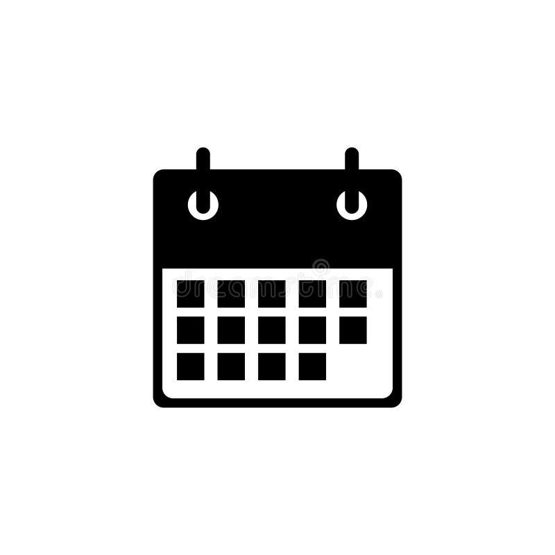 Ic?ne plate de calendrier Calendrier sur le mur Illustration de vecteur illustration de vecteur