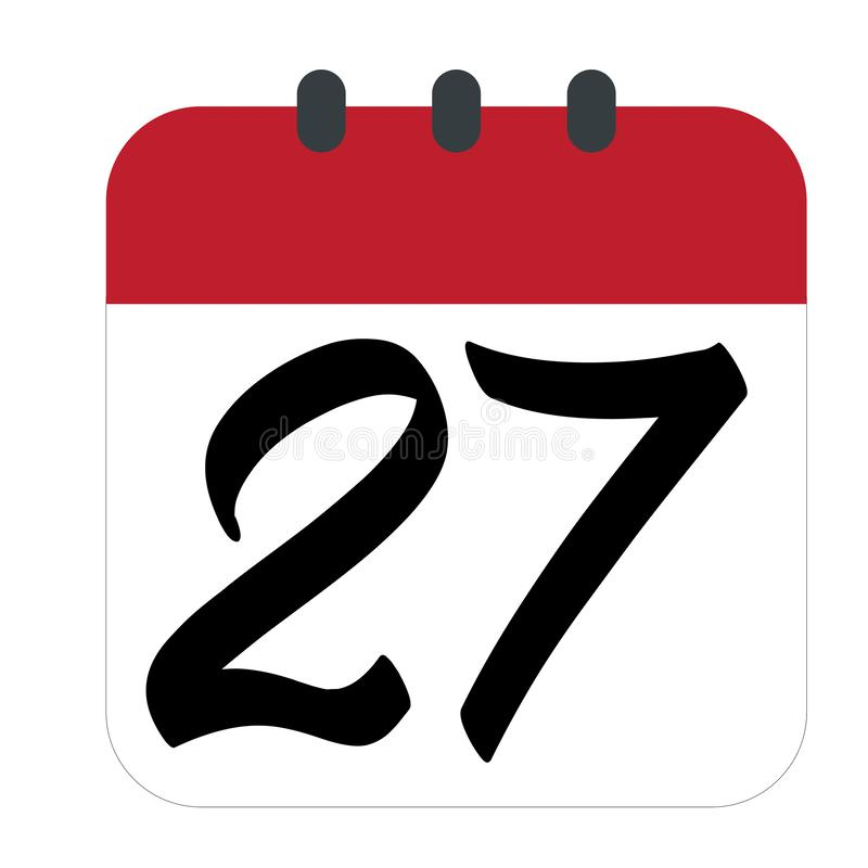 Ic?ne plate de calendrier Calendrier sur le mur Illustration de vecteur - Le fichier du vecteur illustration stock
