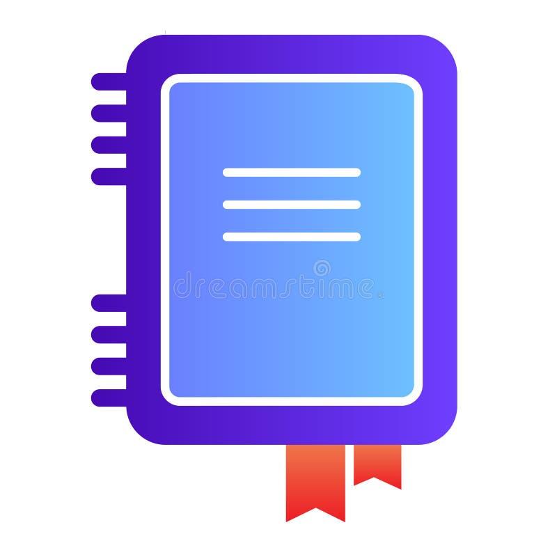 Ic?ne plate de carnet Icônes de couleur de bloc-notes dans le style plat à la mode Conception de style de gradient de note, conçu illustration stock
