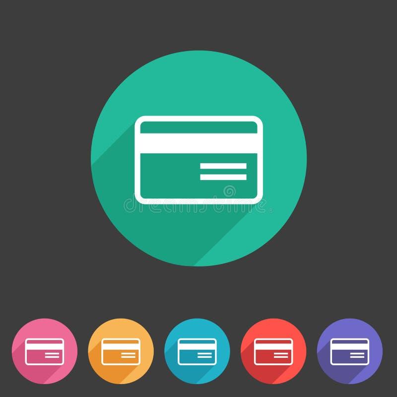 Icône plate de carte bancaire  illustration de vecteur