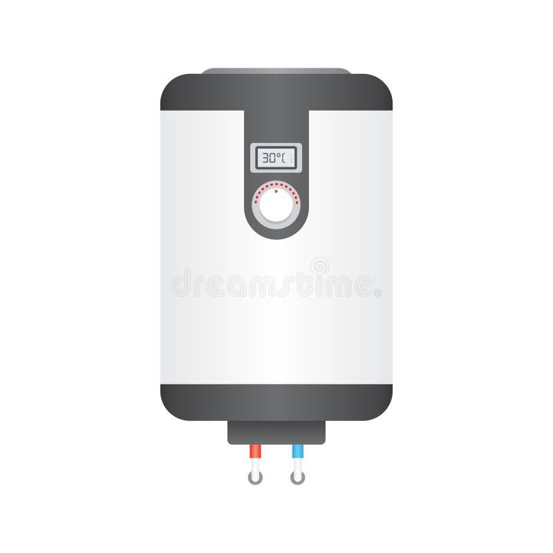 Icône plate de chaudière électrique, illustration stock