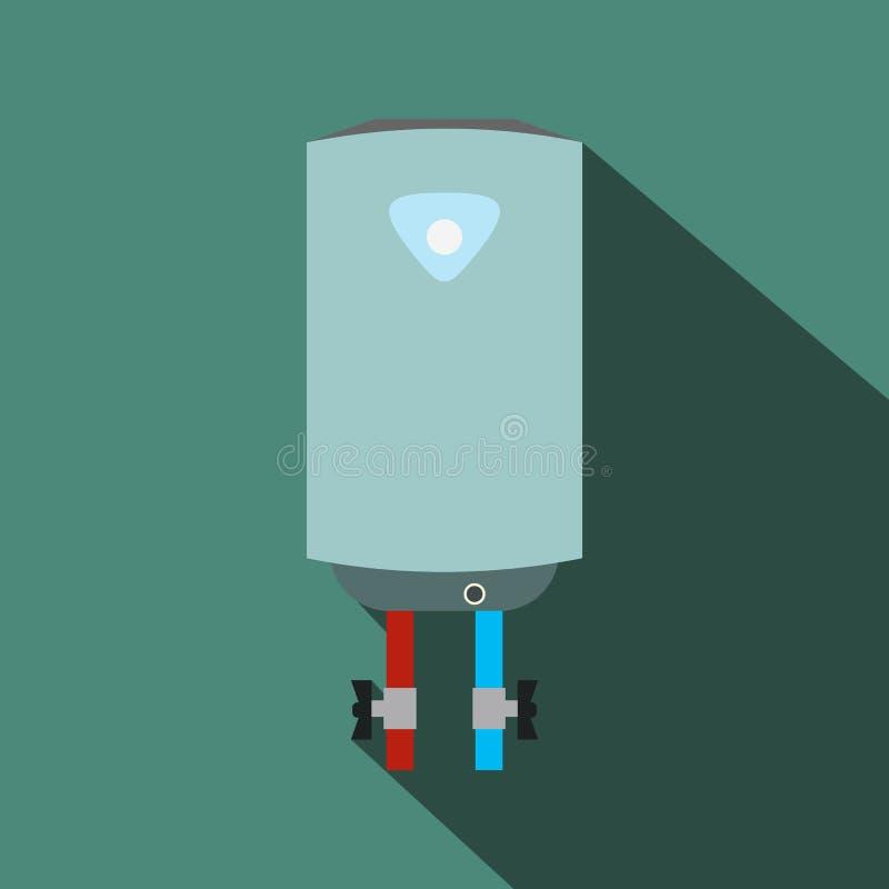 Icône plate de chaudière avec l'ombre illustration stock