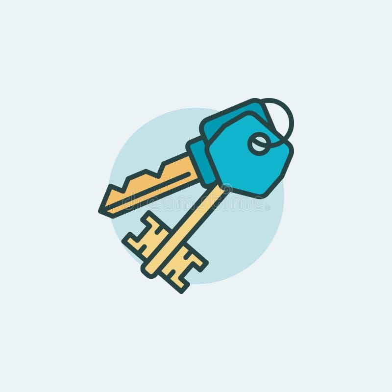 Icône plate de clés illustration de vecteur