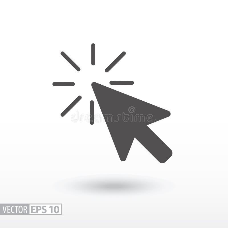 Icône plate de clic illustration de vecteur