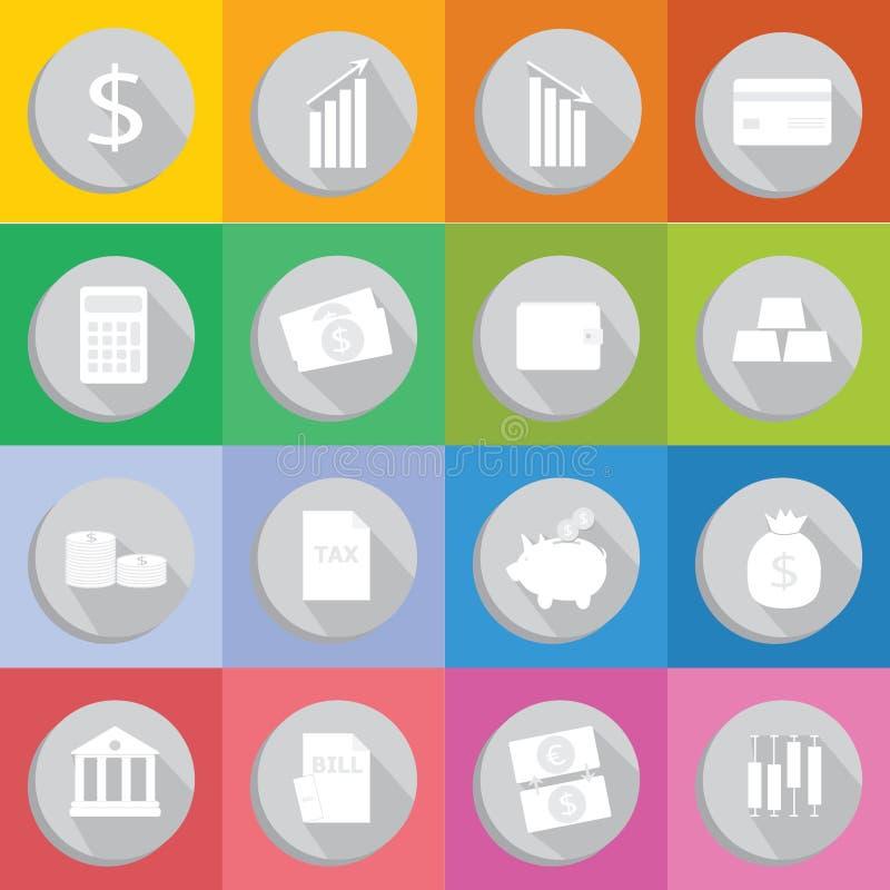 Icône plate de conception financière photos stock