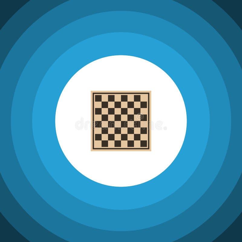 Icône plate de damier L'élément de vecteur de Tableau d'échecs peut être employé pour le damier, Tableau, concept de construction illustration de vecteur