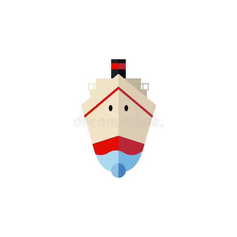 Icône plate de expédition d'isolement L'élément de vecteur de la livraison peut être employé pour embarquer, bateau, concept de c illustration libre de droits