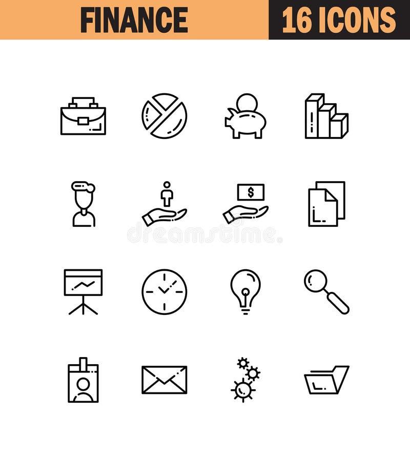 Icône plate de finances illustration de vecteur