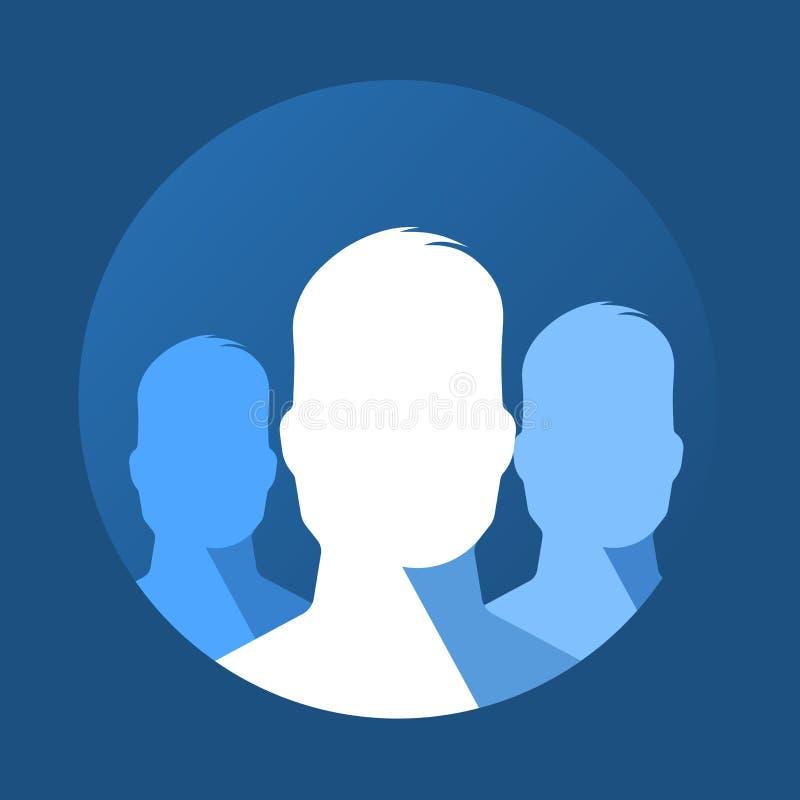 Icône plate de groupe illustration libre de droits
