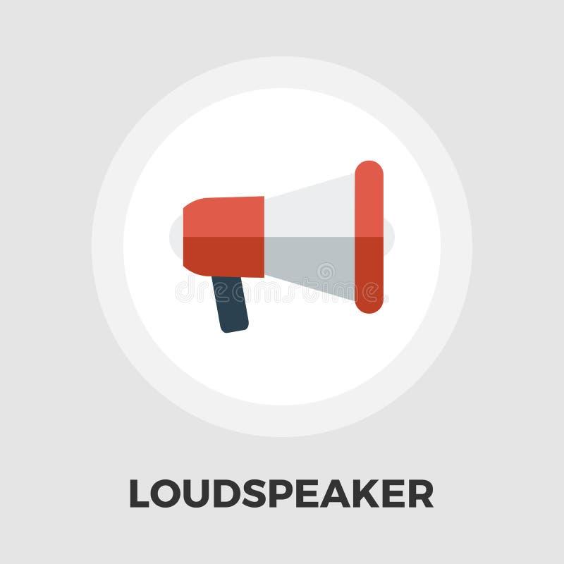 Icône plate de haut-parleur illustration de vecteur