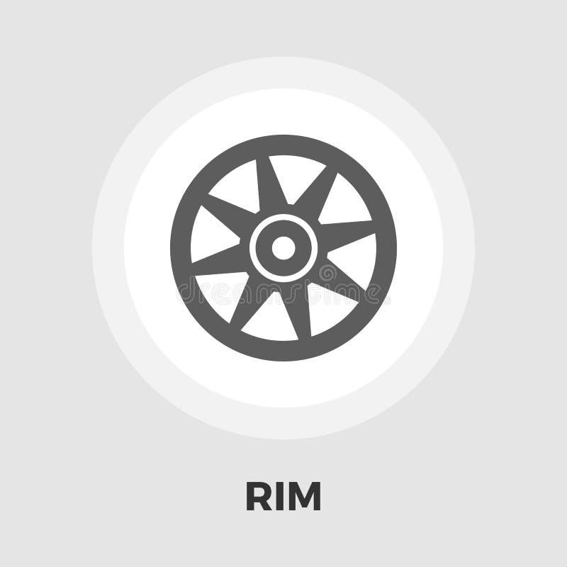 Icône plate de jante de voiture illustration de vecteur