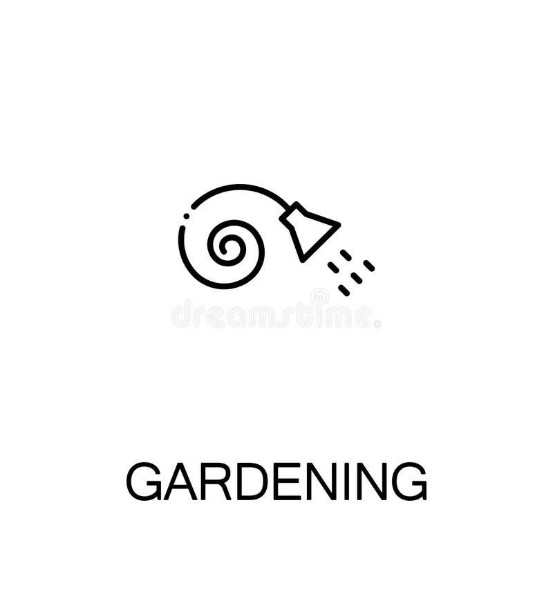 Icône plate de jardinage illustration libre de droits