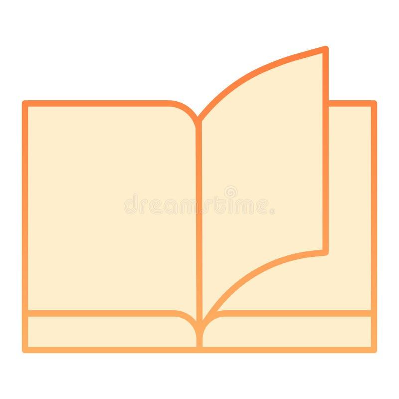 Ic?ne plate de livre Icônes oranges d'éducation dans le style plat à la mode Étude de la conception de style de gradient, conçue  illustration stock