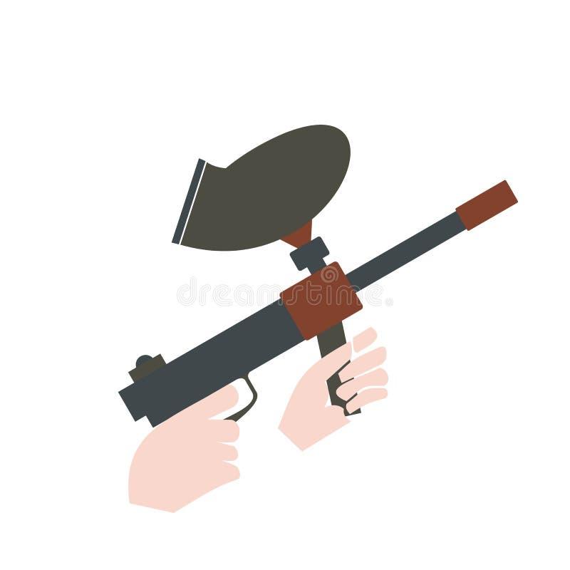 Icône plate de marqueur de Paintball illustration libre de droits