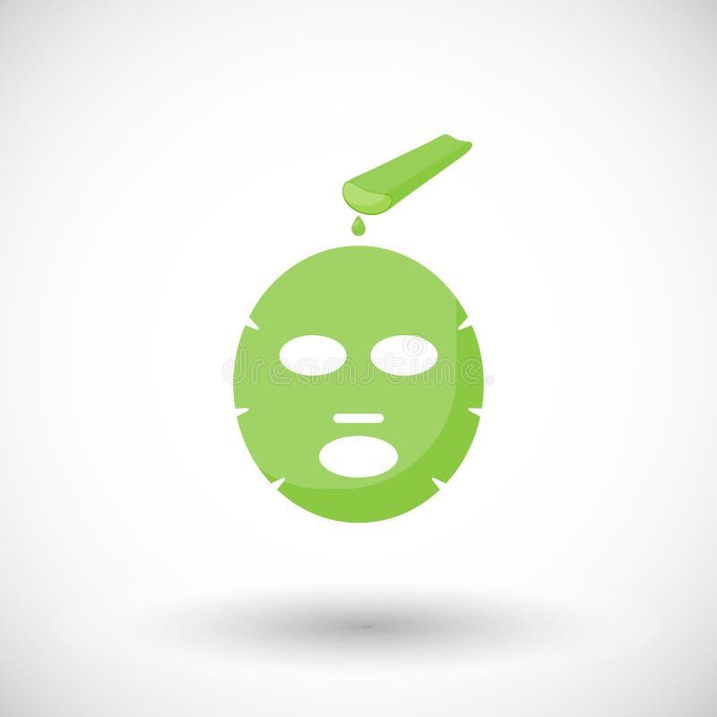 Icône plate de masque facial de Vera d'aloès illustration libre de droits