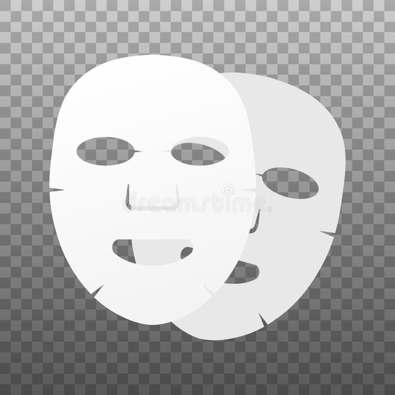 Ic?ne plate de masque facial M?decine, cosm?tologie et soins de sant? Illustration courante de vecteur illustration stock