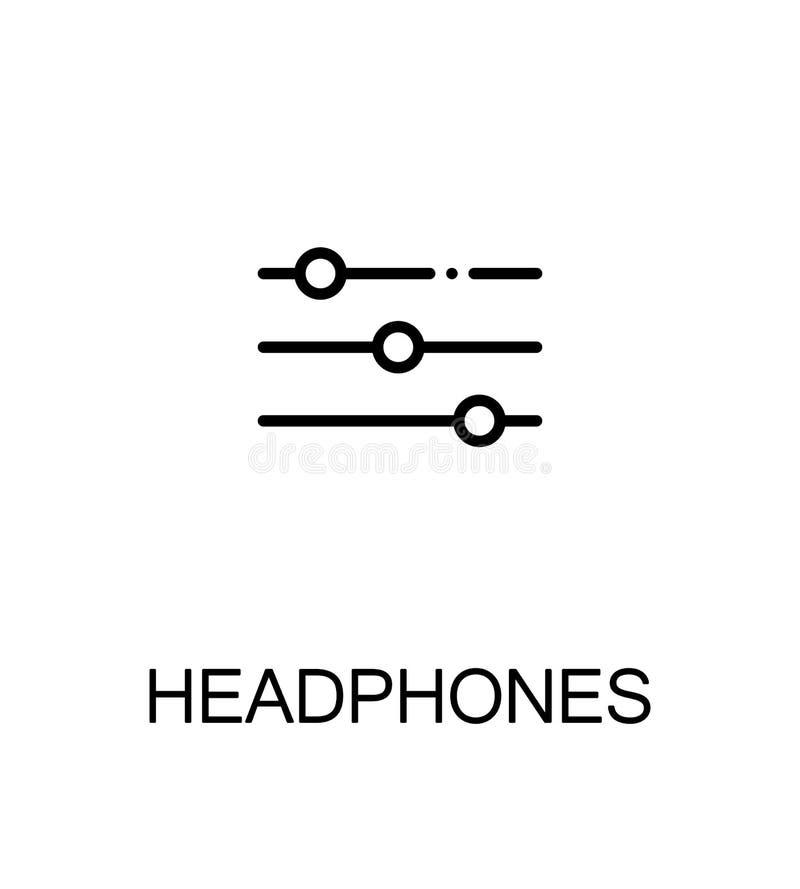 Icône plate de musique illustration de vecteur