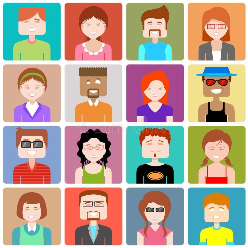Icône plate de personnes de conception illustration stock