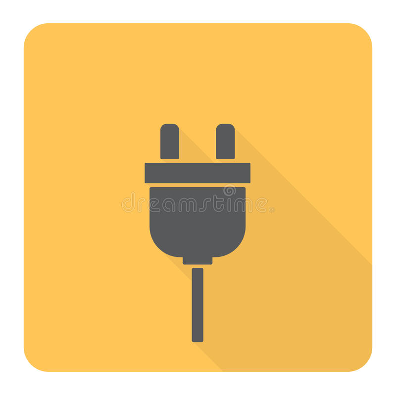 Icône plate de prise illustration stock