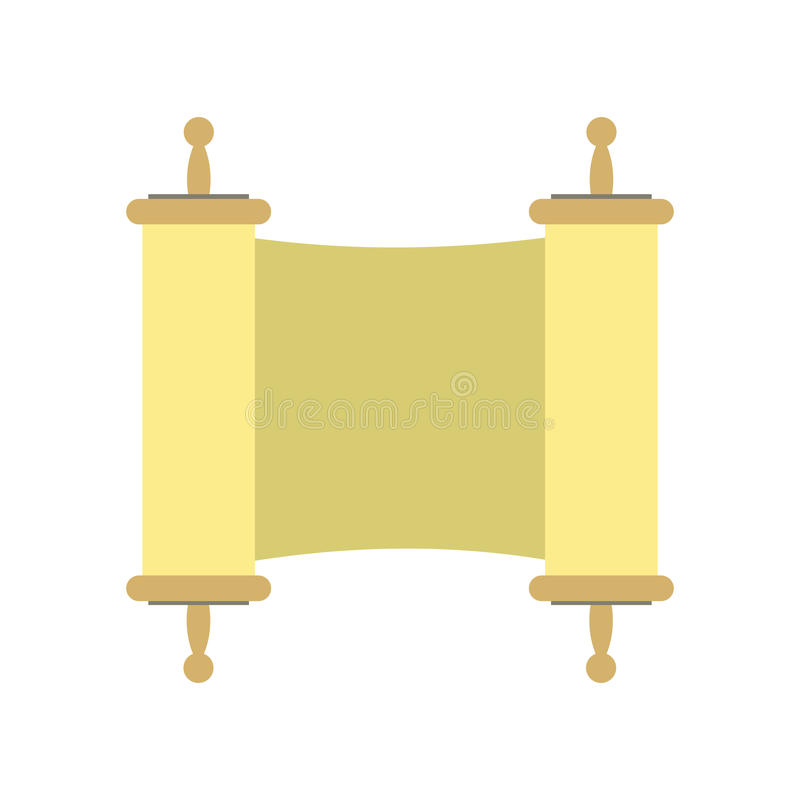 Icône plate de rouleau chinois de calligraphie illustration stock
