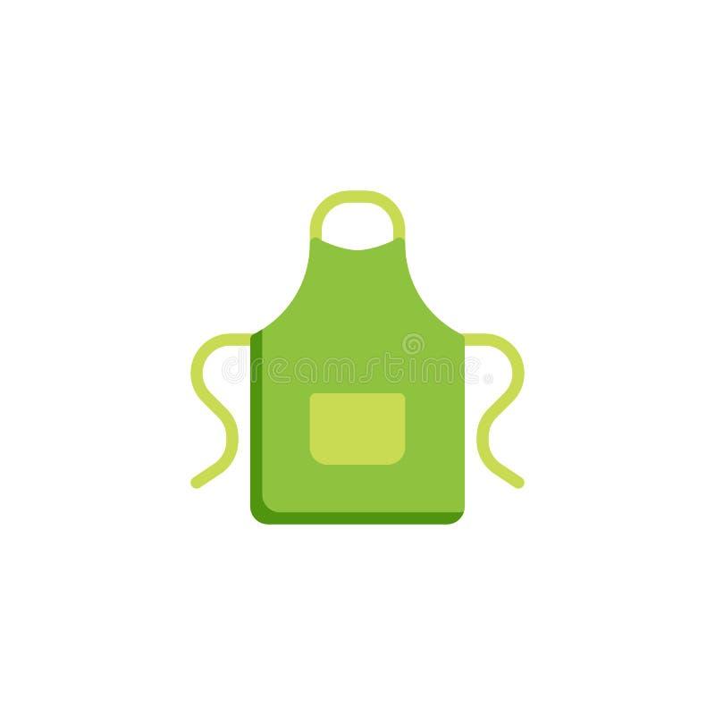 Ic?ne plate de tablier de cuisine illustration libre de droits