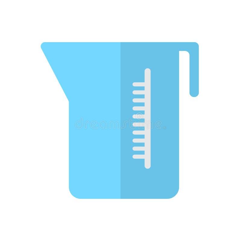 Icône plate de tasse de mesure, signe rempli de vecteur, pictogramme coloré d'isolement sur le blanc illustration libre de droits