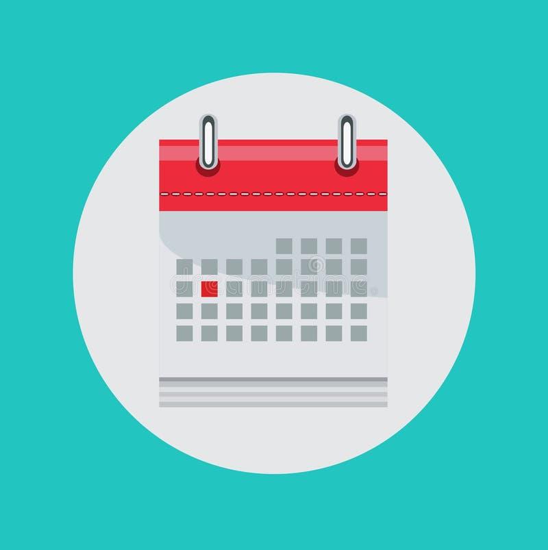 Icône plate de vecteur de calendrier illustration libre de droits