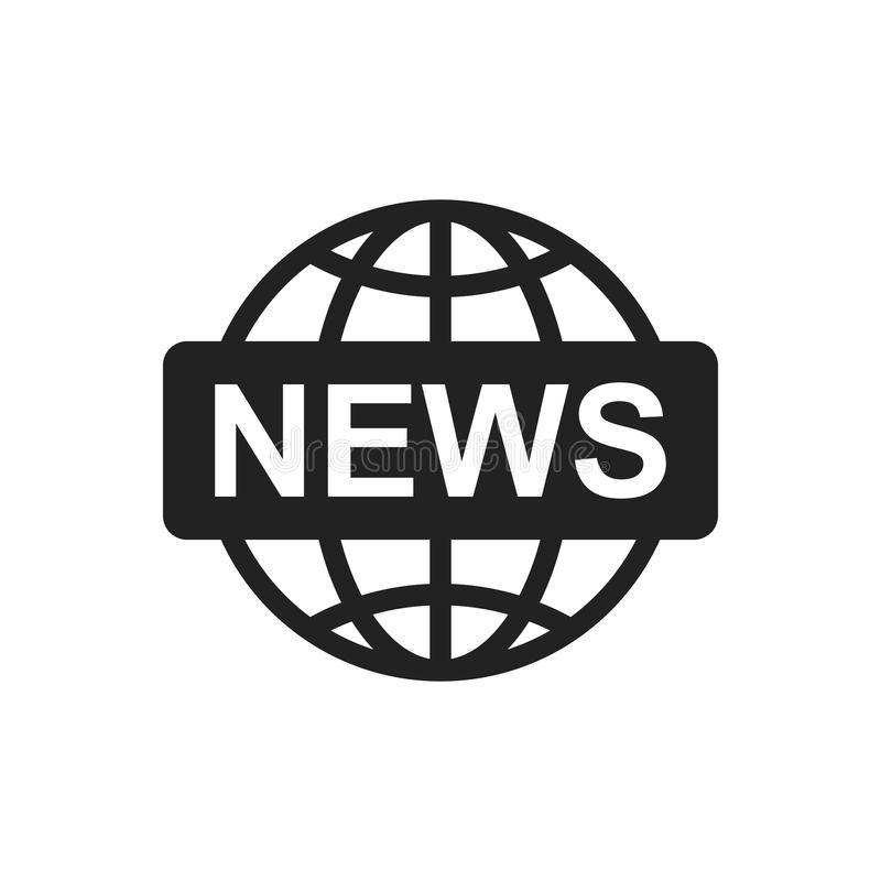Icône plate de vecteur de nouvelles du monde Illustration de logo de symbole d'actualités illustration de vecteur