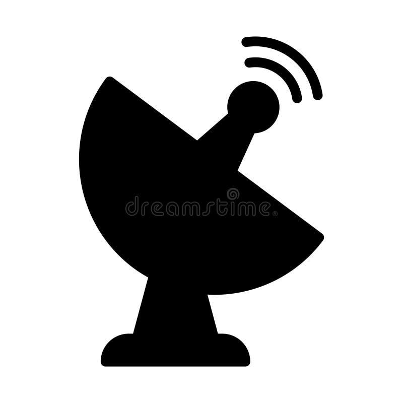 Ic?ne plate de vecteur de glyph d'antenne illustration de vecteur