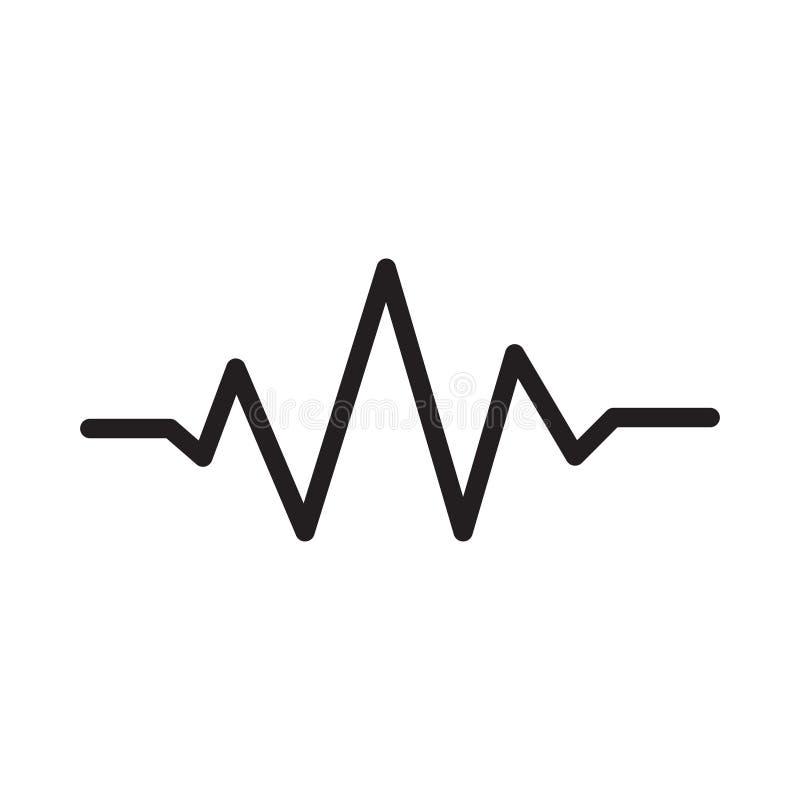 Ic?ne plate de vecteur de glyph de musique illustration de vecteur
