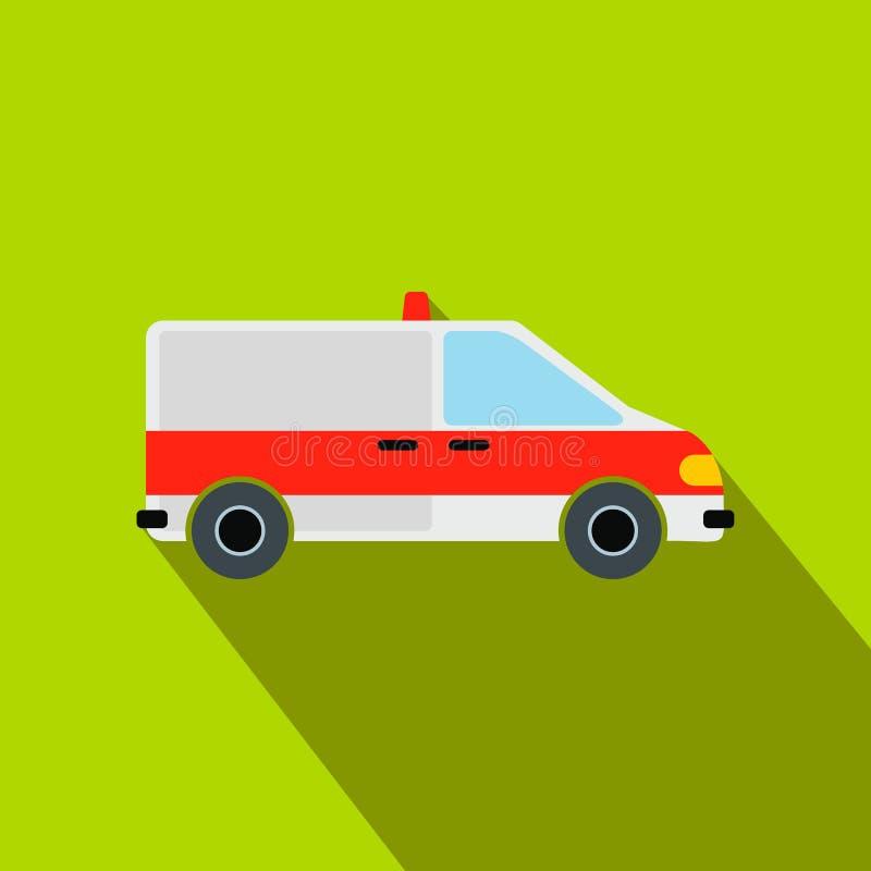 Icône plate de voiture d'ambulance illustration libre de droits