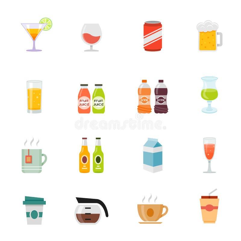 Icône plate polychrome de conception de boisson. illustration de vecteur