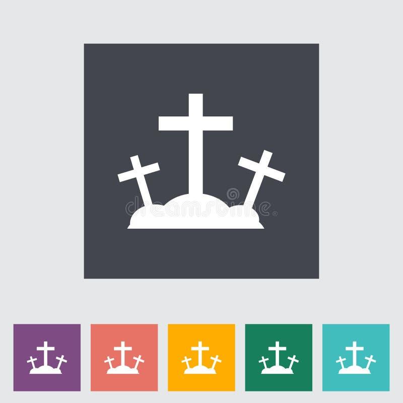 Icône plate simple de calvaire. illustration libre de droits