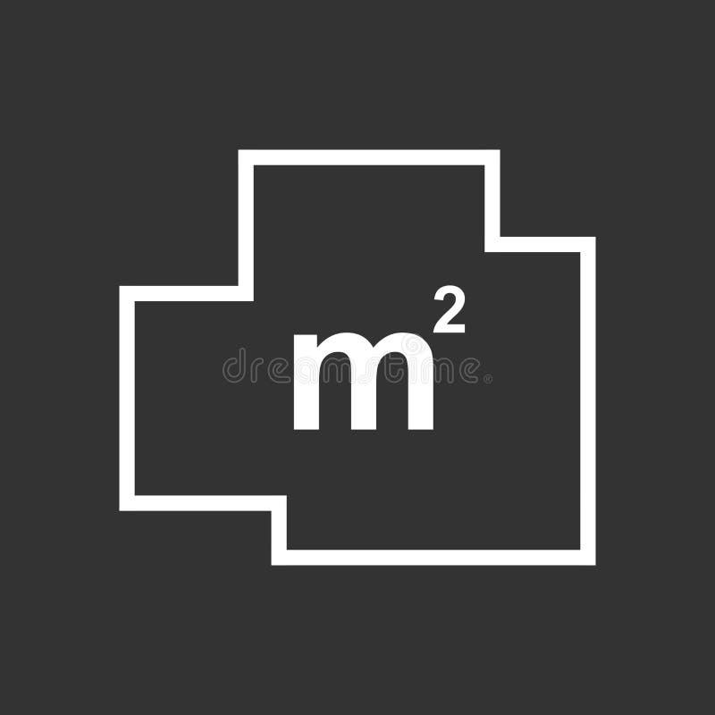 Icône plate simple de plan de Chambre illustration libre de droits