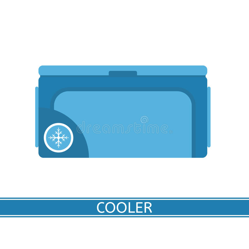 Icône portative de refroidisseur illustration stock