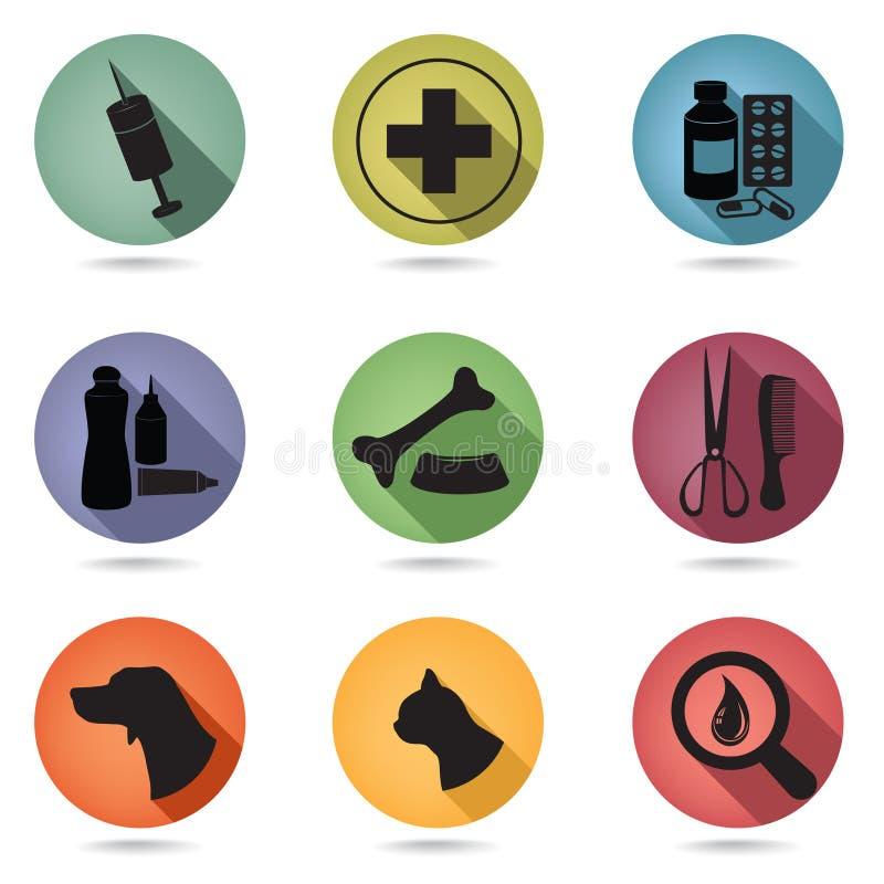 Icône pour la clinique animale et le toilettage illustration stock