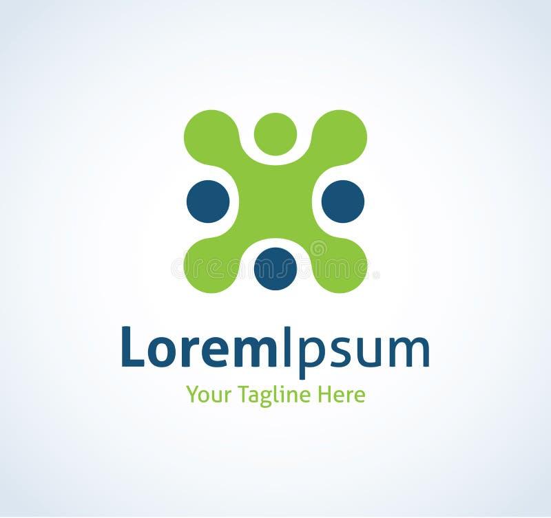 Icône professionnelle de logo de progrès d'avancement de technologie de code étranger illustration stock
