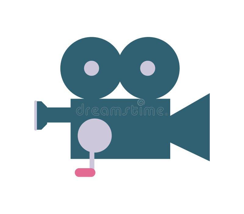 Icône professionnelle de vecteur de caméra vidéo illustration de vecteur
