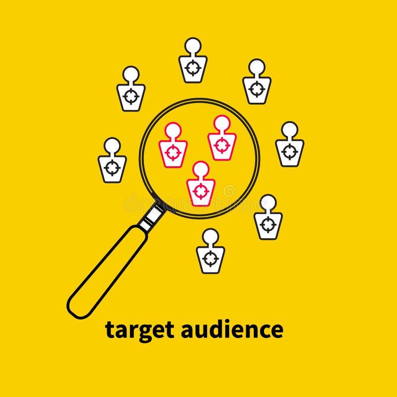 Icône, public cible de logo illustration libre de droits