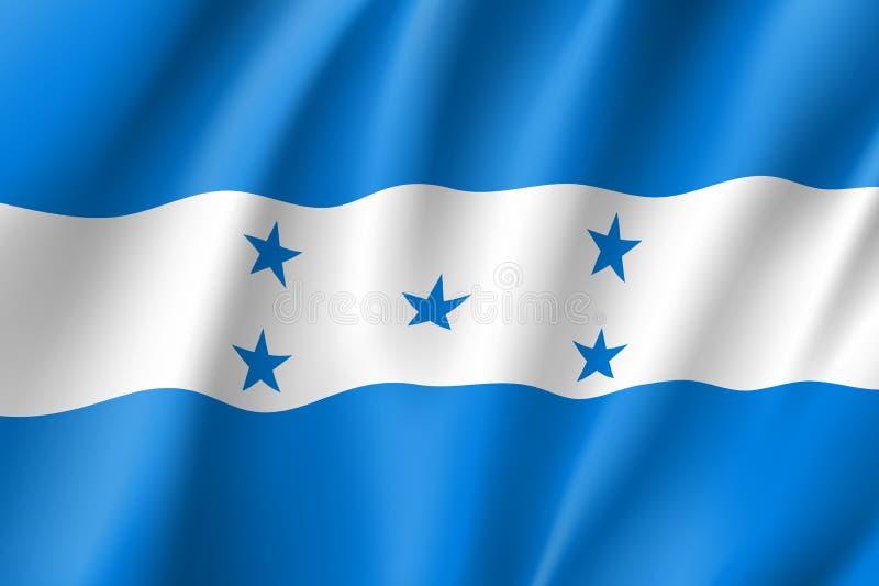 Icône réaliste du Honduras de drapeau illustration de vecteur