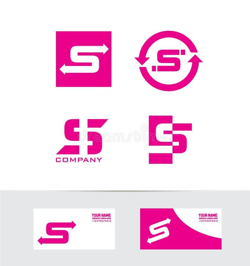 Icône réglée de logo de rose de la lettre s illustration libre de droits
