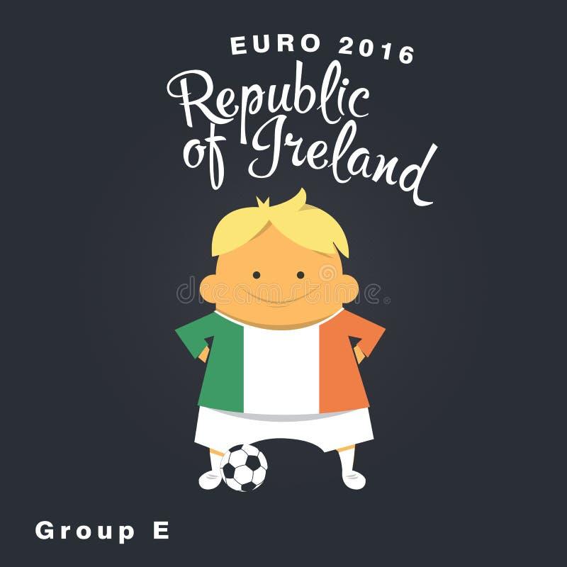 Icône 2016, république d'Irlande, groupe E de championnat d'euro illustration de vecteur