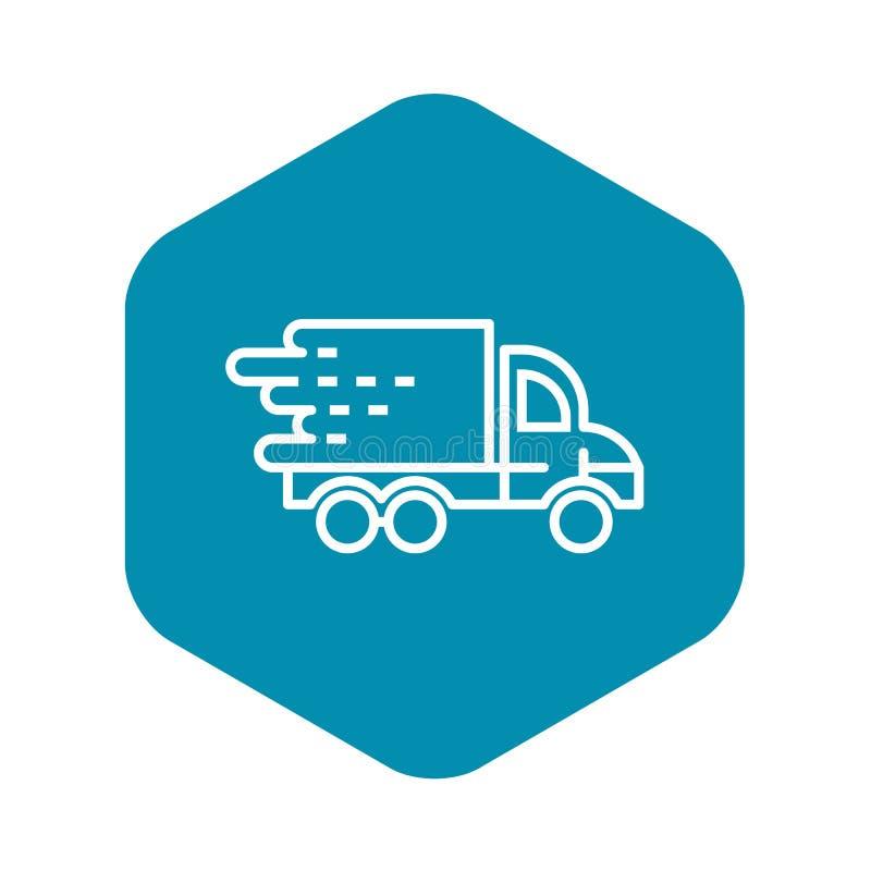 Ic?ne rapide de la livraison de camion, style d'ensemble illustration de vecteur