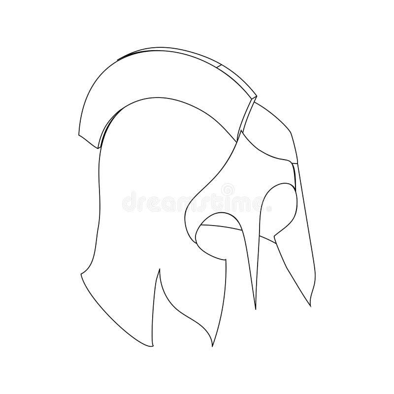 Icône romaine de casque, 3d isométrique illustration libre de droits