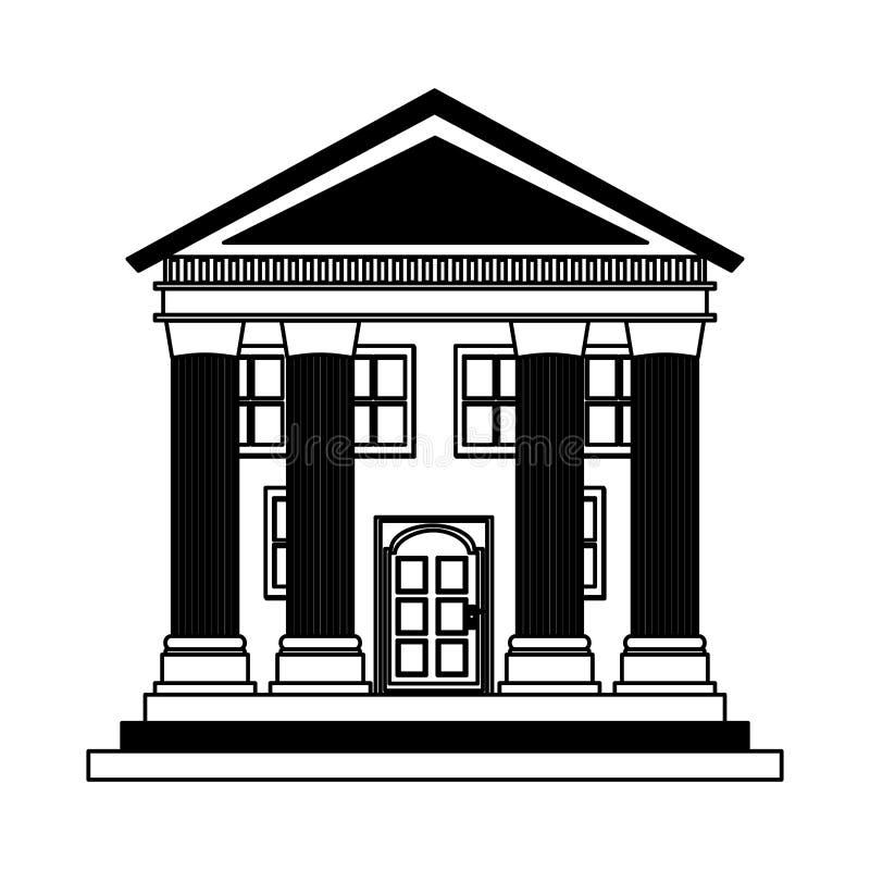Icône romaine de construction de colonnes illustration de vecteur